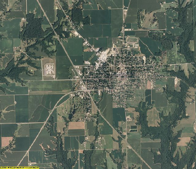 Schuyler County, Illinois aerial photography