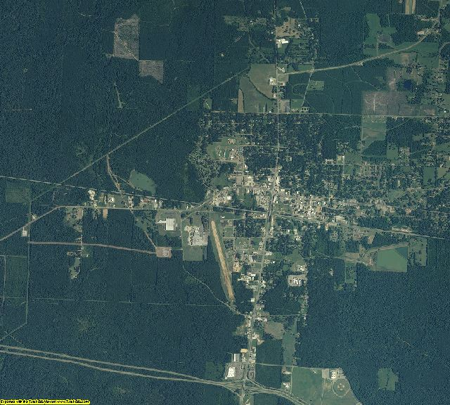 Scott County, Mississippi aerial photography