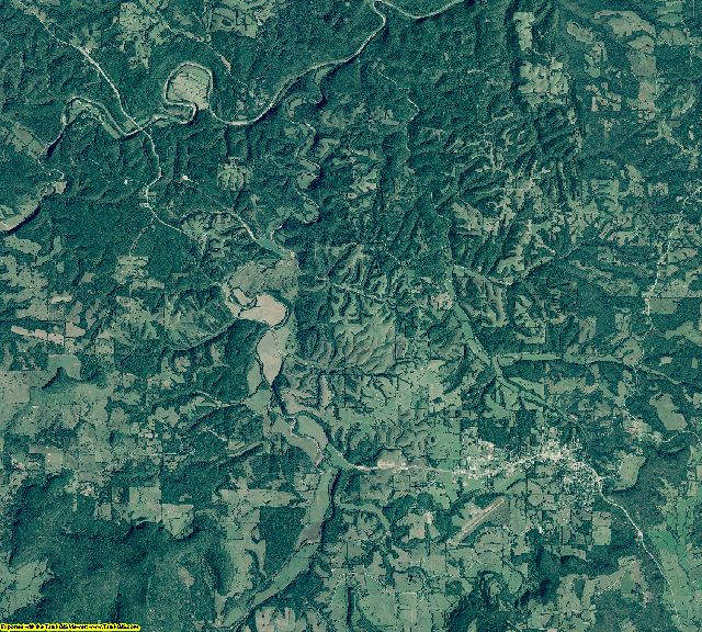 Searcy County, Arkansas aerial photography