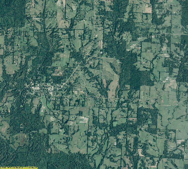 Sevier County, Arkansas aerial photography