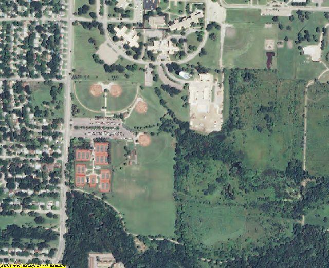Shawnee County, KS aerial photography detail