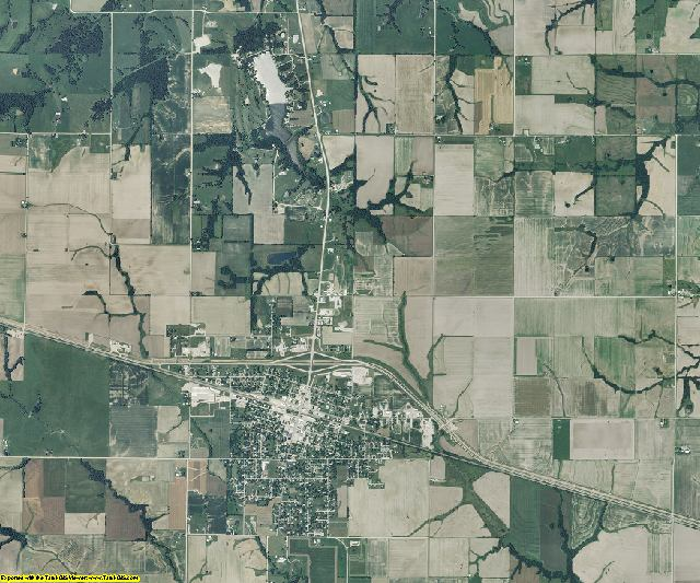 Shelby County, Missouri aerial photography