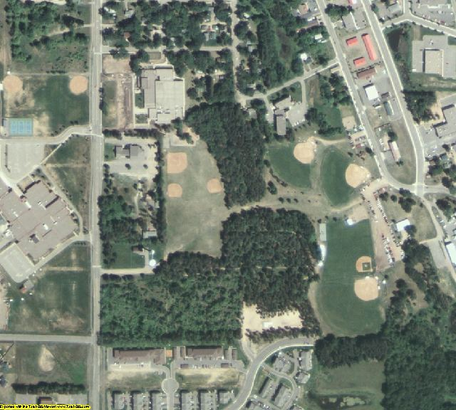 Sherburne County, MN aerial photography detail