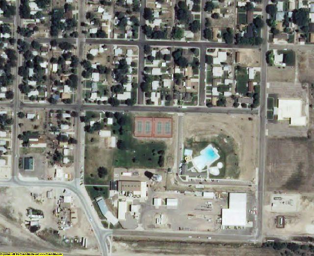 Sherman County, KS aerial photography detail