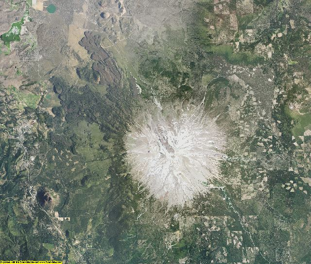 Siskiyou County, California aerial photography