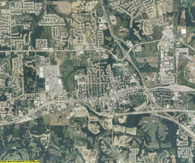 St. Charles County, Missouri aerial photography