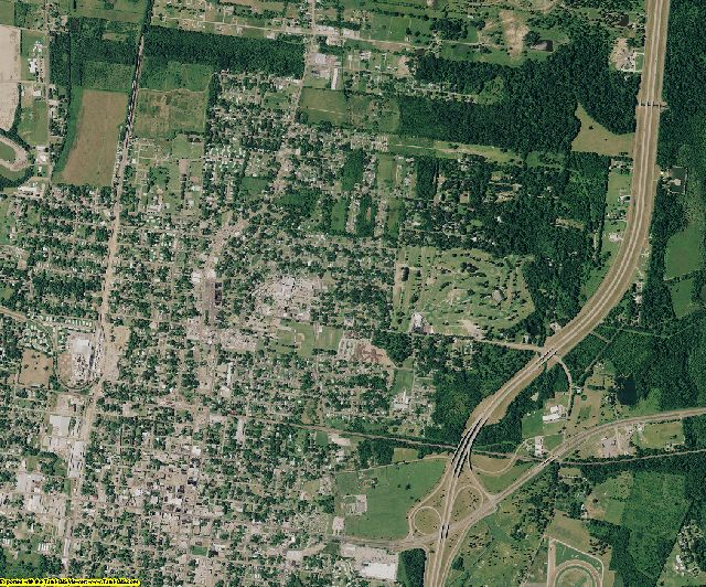 St. Landry County, Louisiana aerial photography