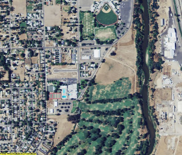 Stanislaus County, CA aerial photography detail