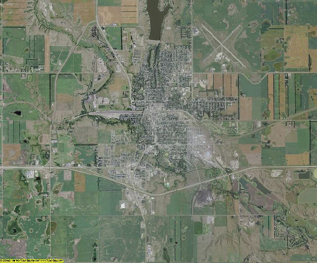 Stutsman County, North Dakota aerial photography