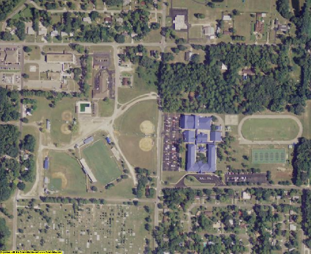 Taylor County, FL aerial photography detail