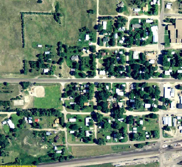 Thomas County, NE aerial photography detail