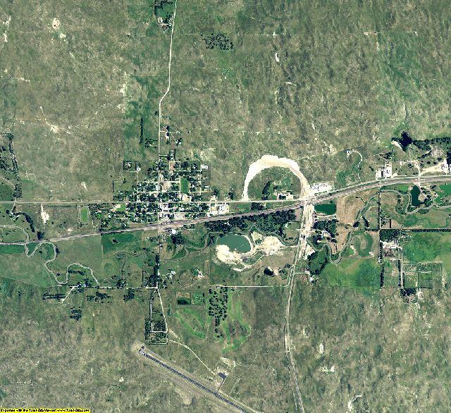 Thomas County, Nebraska aerial photography