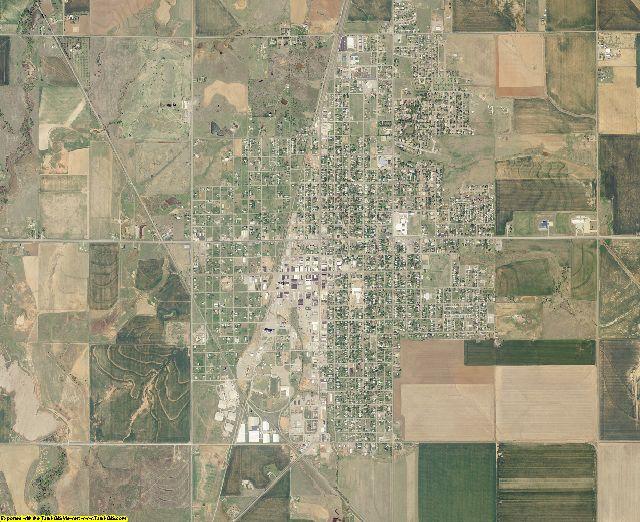 Tillman County, Oklahoma aerial photography