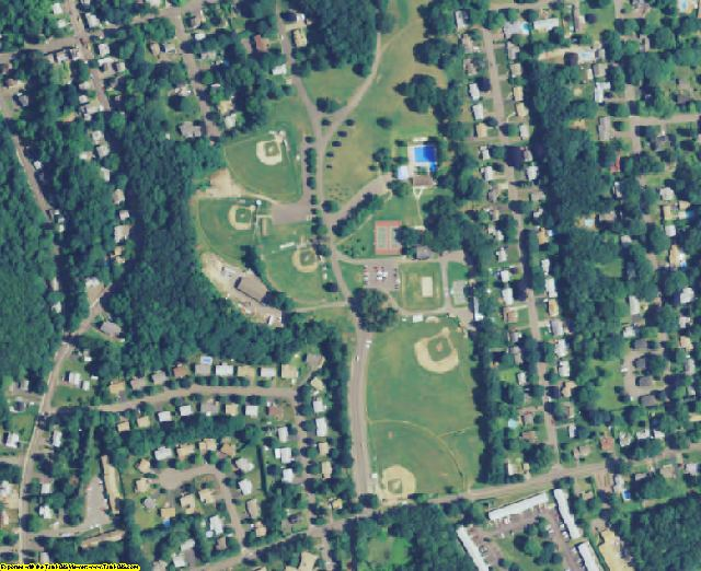 Tolland County, CT aerial photography detail