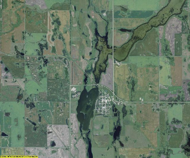Towner County, North Dakota aerial photography