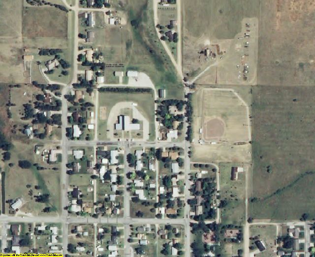 Trego County, KS aerial photography detail