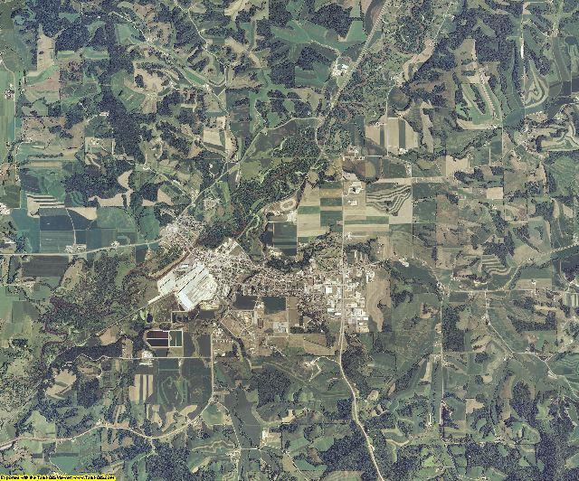 Trempealeau County, Wisconsin aerial photography