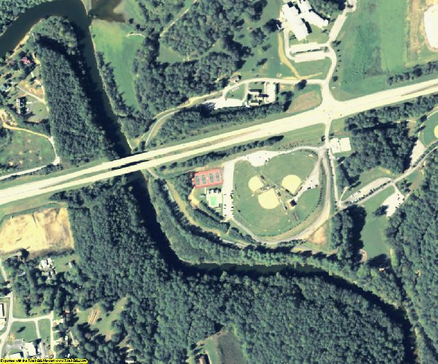 Union County, GA aerial photography detail