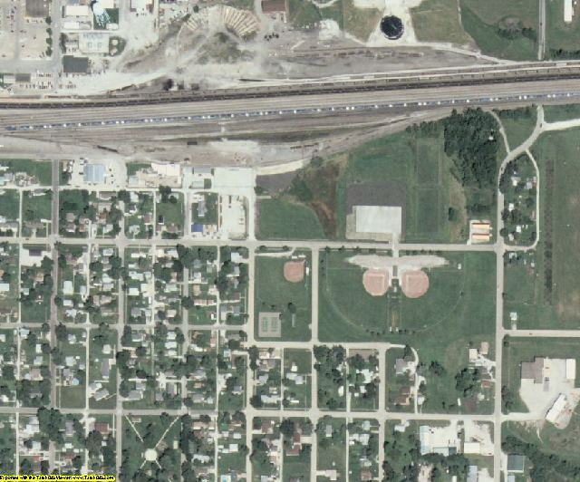 Union County, IA aerial photography detail