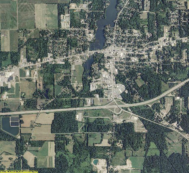 Van Buren County, Michigan aerial photography
