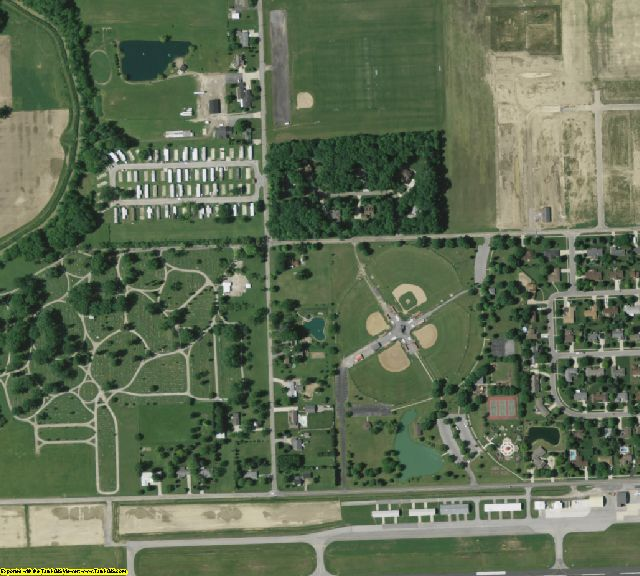 Van Wert County, OH aerial photography detail