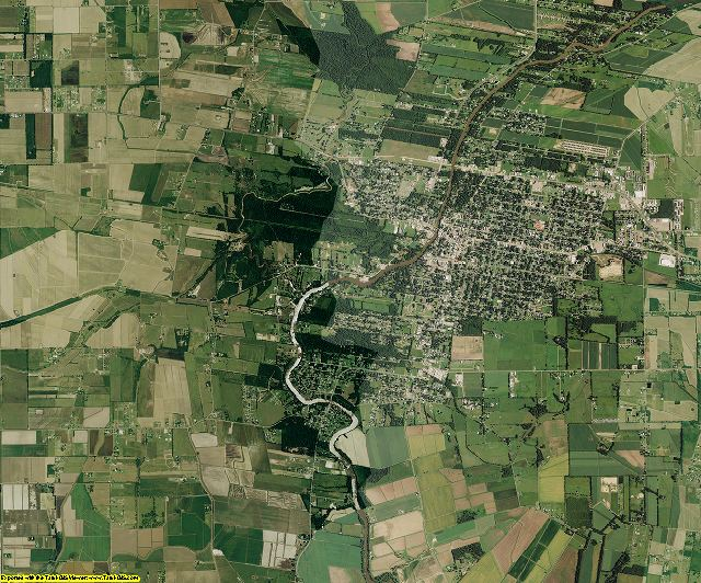 Vermilion County, Louisiana aerial photography