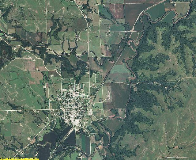 Wabaunsee County, Kansas aerial photography