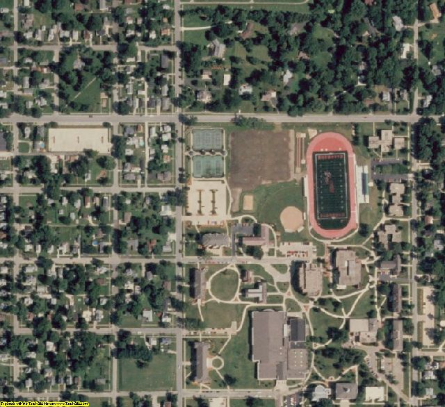 Warren County, IL aerial photography detail
