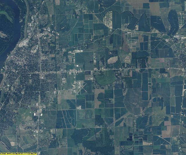 Washington County, Mississippi aerial photography