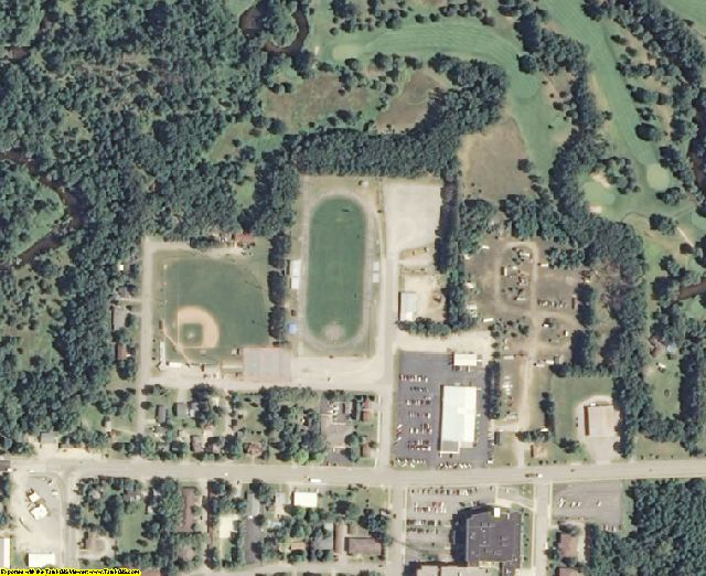 Waupaca County, WI aerial photography detail