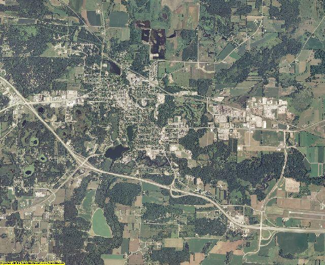 Waupaca County, Wisconsin aerial photography