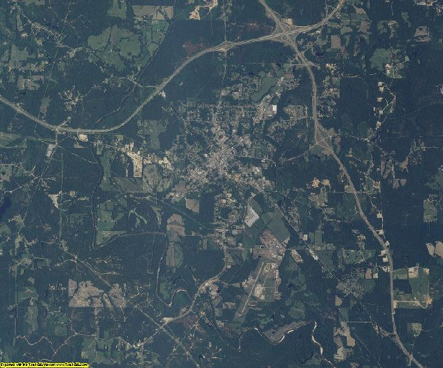 Wayne County, Mississippi aerial photography