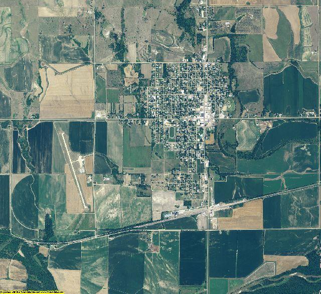 Webster County, Nebraska aerial photography