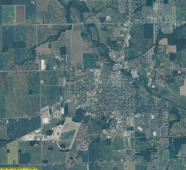 Wells County, Indiana aerial photography