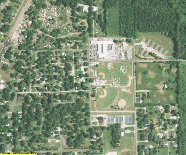 West Carroll County, LA aerial photography detail