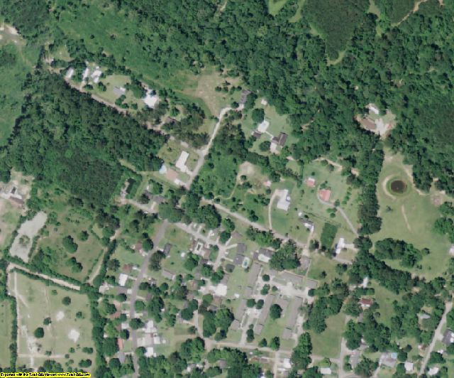 West Feliciana County, LA aerial photography detail