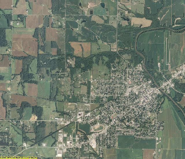 White County, Illinois aerial photography