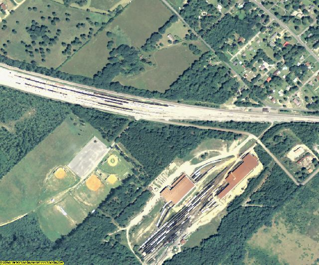 Wilkinson County, GA aerial photography detail