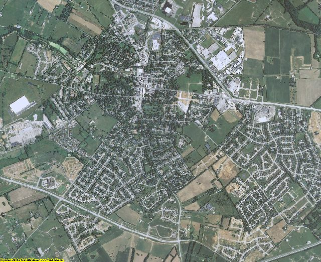 Woodford County, Kentucky aerial photography