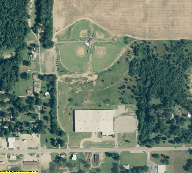 Woodruff County, AR aerial photography detail