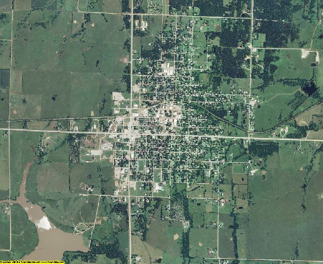 Woodson County, Kansas aerial photography