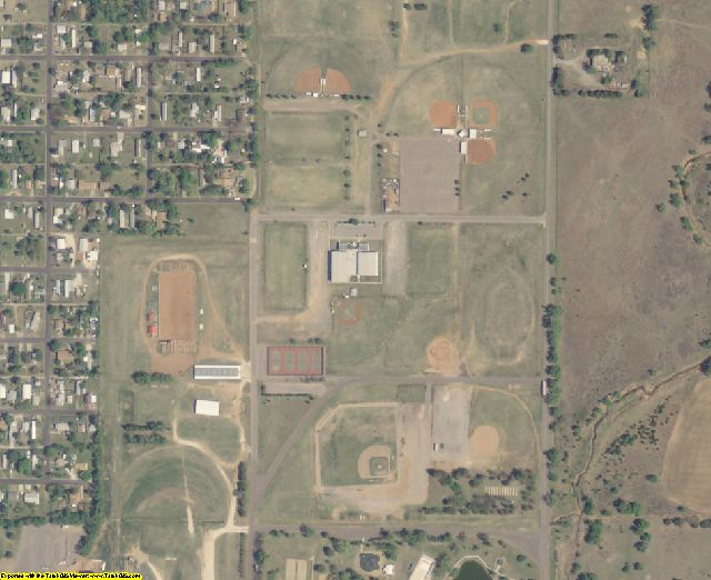 Woodward County, OK aerial photography detail