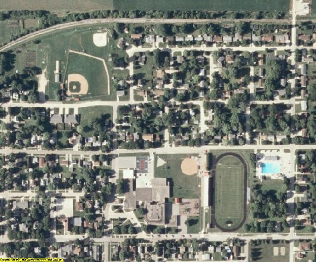 Wright County, IA aerial photography detail