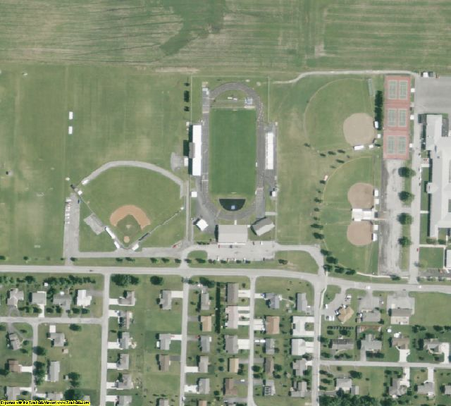 Wyandot County, OH aerial photography detail