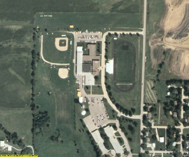 Adair County, IA aerial photography detail
