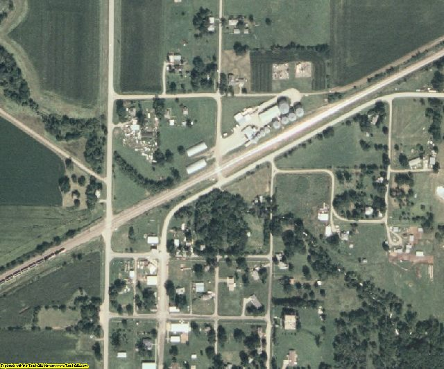 Adams County, IA aerial photography detail
