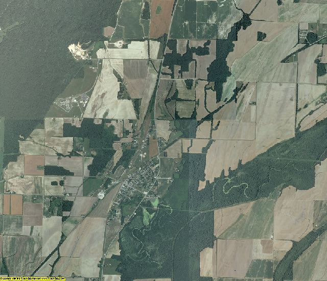Alexander County, Illinois aerial photography