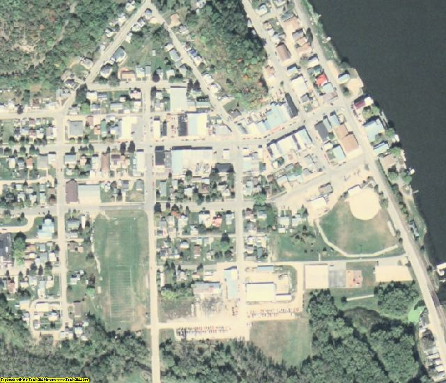 Allamakee County, IA aerial photography detail