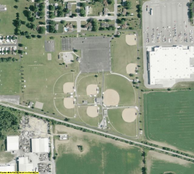 Auglaize County, OH aerial photography detail