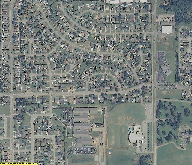 Autauga County, AL aerial photography detail